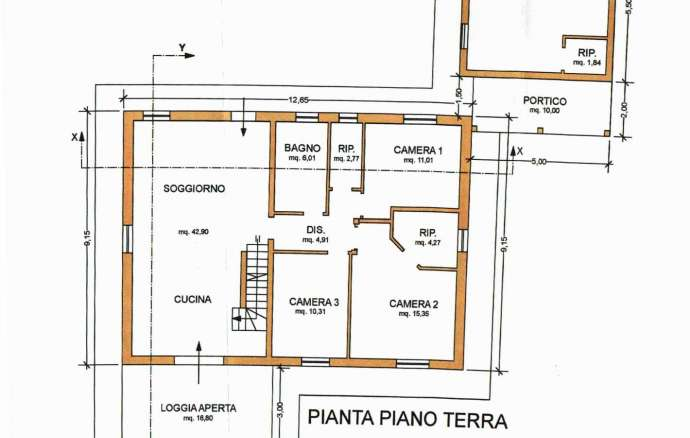 Climate House with garden in Treia (MC)